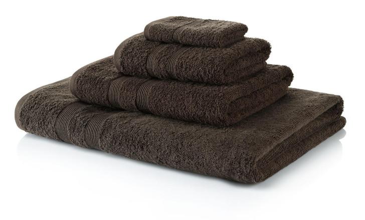 4 Piece Chocolate Brown Towel Bale 500 GSM - 2 Hand Towels, 2 Bath Towels