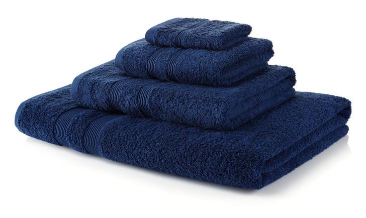 6 Piece Navy Blue Towel Bale 500 GSM - 4 Hand Towels, 2 Bath Towels