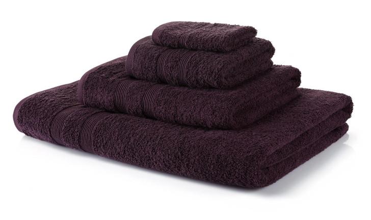 6 Piece Purple Towel Bale 500 GSM - 4 Hand Towels, 2 Bath Towels