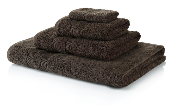 6 Piece Chocolate Brown Towel Bale 500 GSM - 4 Hand Towels, 2 Bath Towels