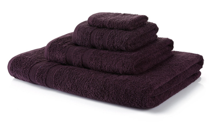 6 Piece Purple Towel Bale 500 GSM - 2 Face Cloths, 2 Hand Towels, 2 Bath Sheets