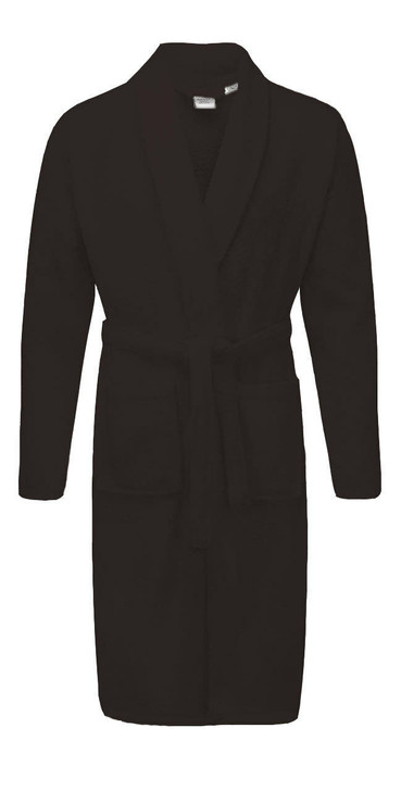 Black - Dressing Gowns Terry Towelling