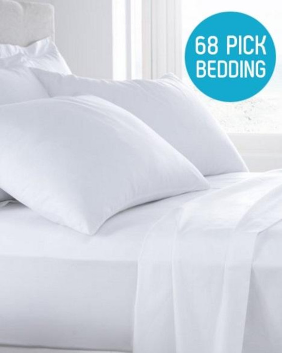 68 Pick Polycotton 12 Deep Fitted Sheet