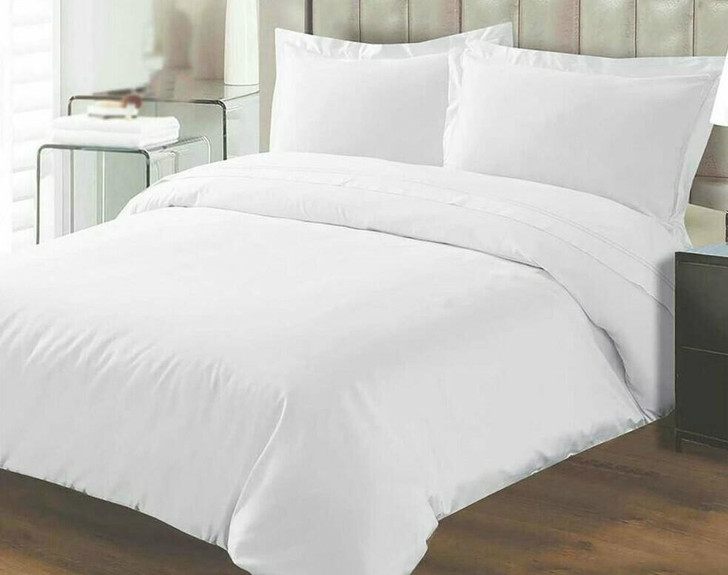 TC180 Percale Duvet coverFitted Sheet Complete Set