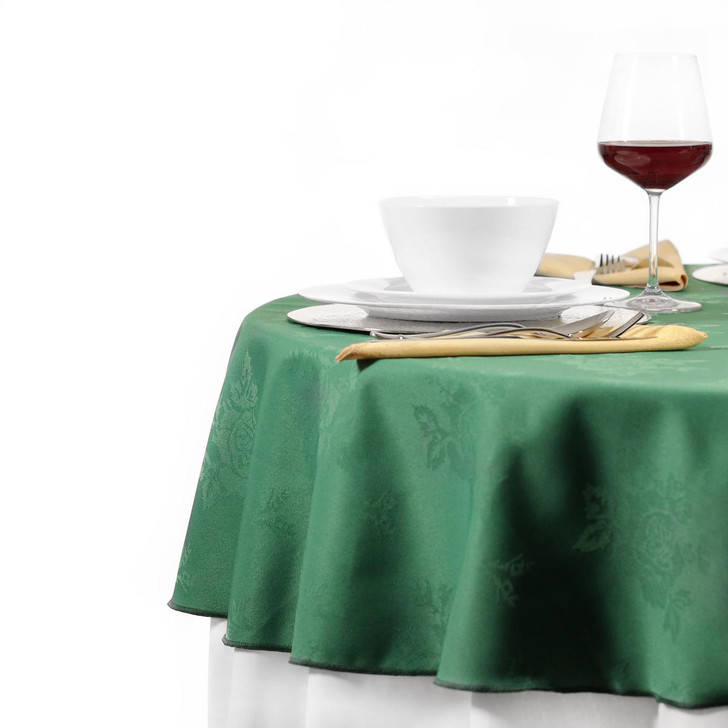 Round Tablecloths Damask Rose