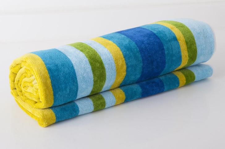 Striped Velour Beach Towel