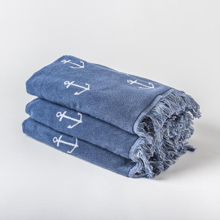 Anchor Design Tassel Beach Towel - 550 GSM