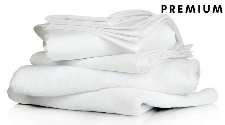 Premium Full Bedding Pack - Includes Pillow, Duvet, Pillowcase, Duvet Cover and Fitted Sheet