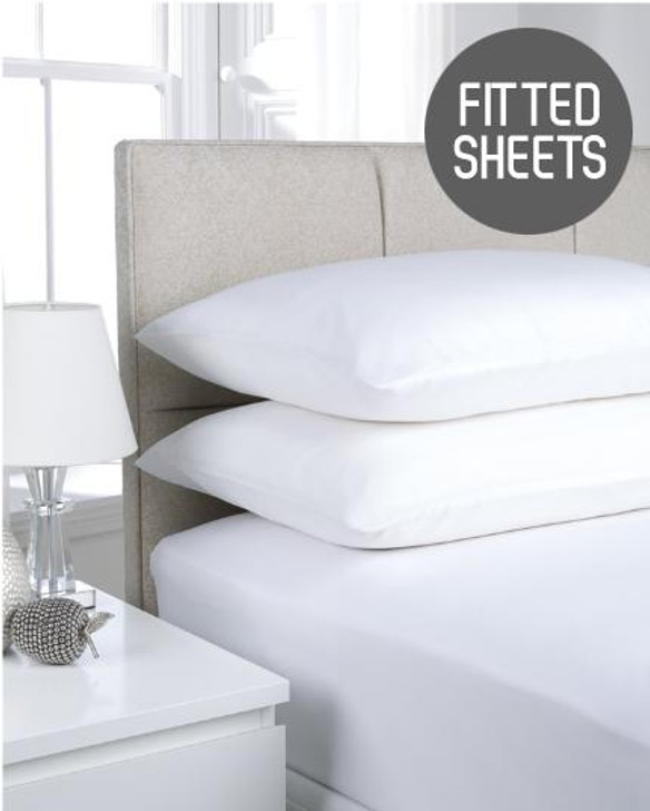 180TC Extra Deep Percale Fitted Sheets Up To 16 Easy Iron