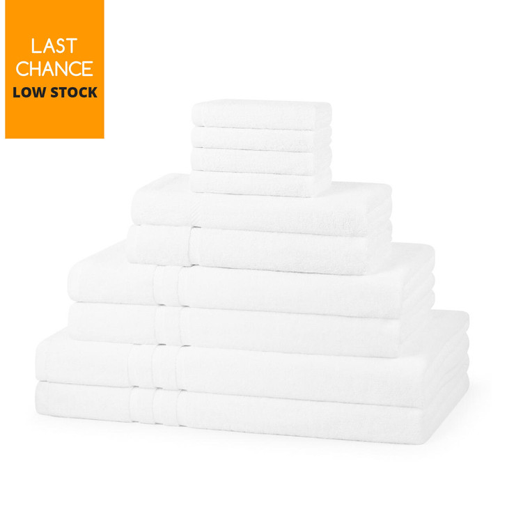 600GSM Luxury Royal Egyptian Double Yarn Face Cloths - White
