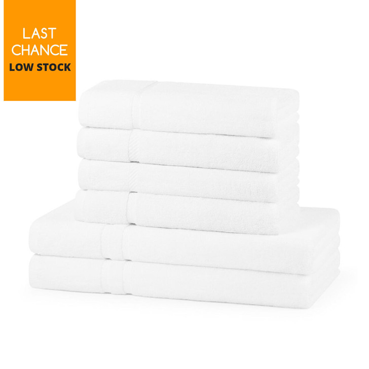 600GSM Luxury Royal Egyptian Double Yarn Hand Towels - White