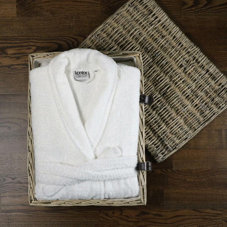 Wholesale Luxury Turkish Cotton Terry Towelling Bathrobe - Extra Large