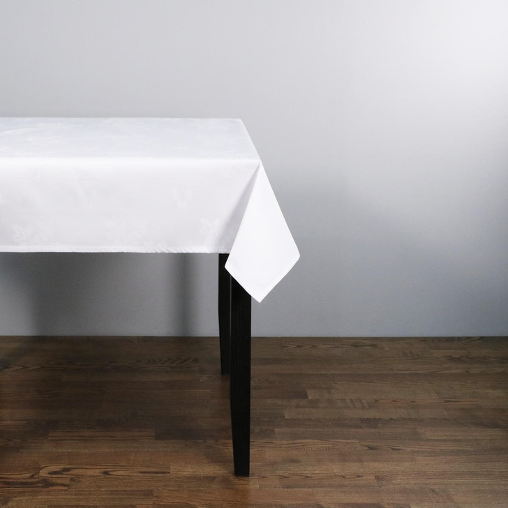 Polyester Damask Rose Design Tablecloths