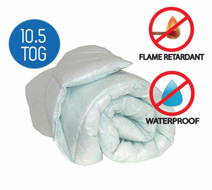 Waterproof Green Tint FR Duvet 10.5 Tog Value Range Best Quality