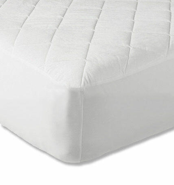 12 Extra Deep Quilted Mattress Protector White - King