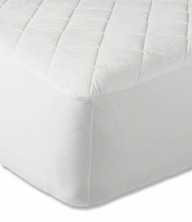 16 Extra Deep Quilted Mattress Protector White - Double
