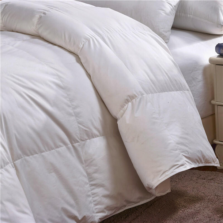 15 Tog Luxury Goose Feather and Down Duvet Warm - Super King