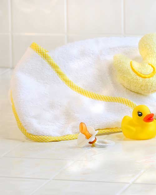 Baby Hooded Towel - Terry Towelling
