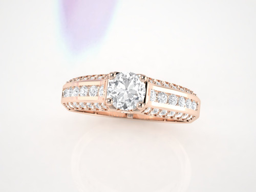 Diamond ring. Available in 14K, 18K yellow, white and rose gold also in platinum.
