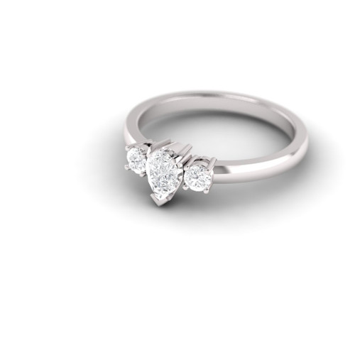 Engagement ring. Diamond ring. Pear shape diamond. Available in 14K / 18K and Platinum.