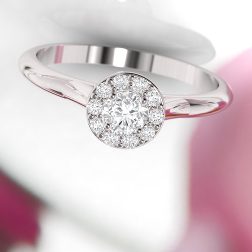 Engagement ring. Diamond ring. Brilliant cut round diamond. Available in 14K, 18K, yellow, rose or white gold. Also in Platinum.