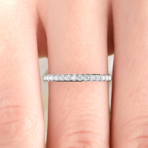 Wedding ring. Diamond wedding ring. Diamond eternity. 14K / 18K / Platinum.