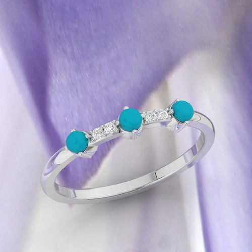 Wedding ring. Turquoise and Diamond ring. Eternity ring. Turquoise ring available in 14K/18K white, yellow or rose gold. Also platinum.