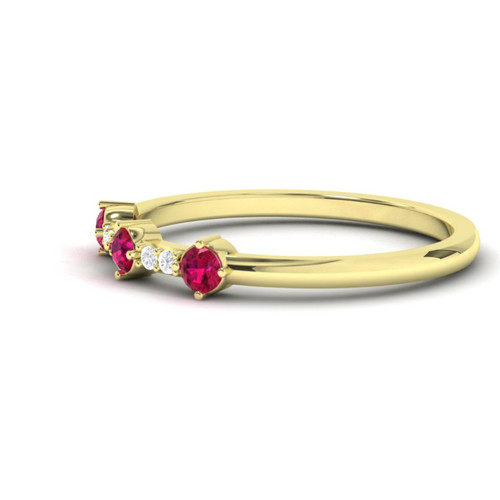 Wedding ring. Ruby and Diamond wedding ring. Eternity ring. Ruby ring available in 14K/18K white, yellow or rose gold. Also platinum.