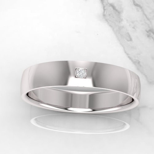 Wedding ring. Mens wedding ring. Diamond wedding ring. 5mm wide. Available in 9K, 14K, 18K, Platinum