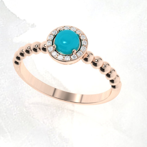 Turquoise engagement ring. Turquoise and diamond ring.