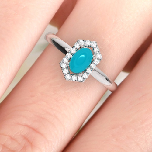 Turquoise engagement ring. Stunning turquoise and diamond ring. Vintage inspired ring. Available in 18K, 14K, yellow, rose or white gold.