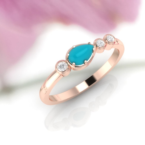 Turquoise and Diamond ring. Engagement ring. Eternity ring. Turquoise ring available in 14K/18K white, yellow or rose gold. Also platinum.