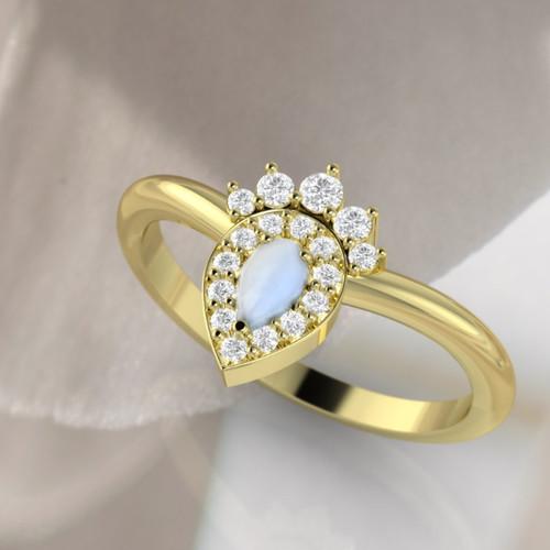 vintage moonstone ring