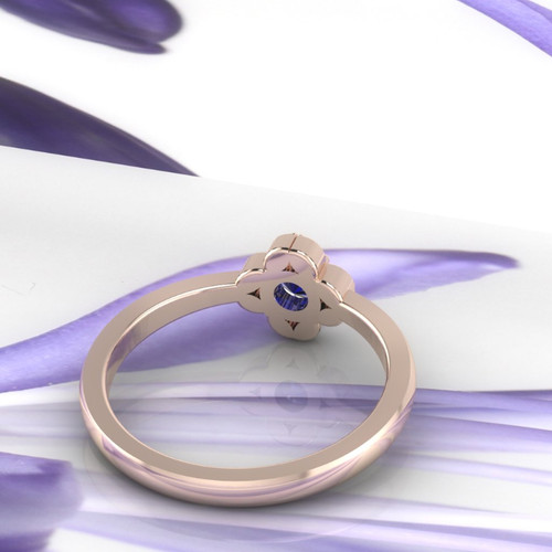 sapphire ring view of band