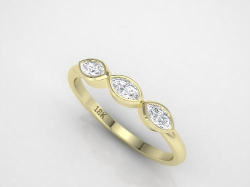 Marquise diamond ring. Diamond engagement ring.