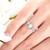 Moonstone ring. Moonstone and diamond ring. Moonstone engagement ring. Pearshape moonstone ring. 14K, 18K or platinum.