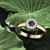 Diamond and sapphire engagement ring. Honeycomb sapphire and diamond ring. Available in 14K / 18K yellow, rose, white or platinum.