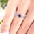 sapphire ring on model