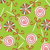 Christmas Lollipops - Lime - Fabric - Benartex