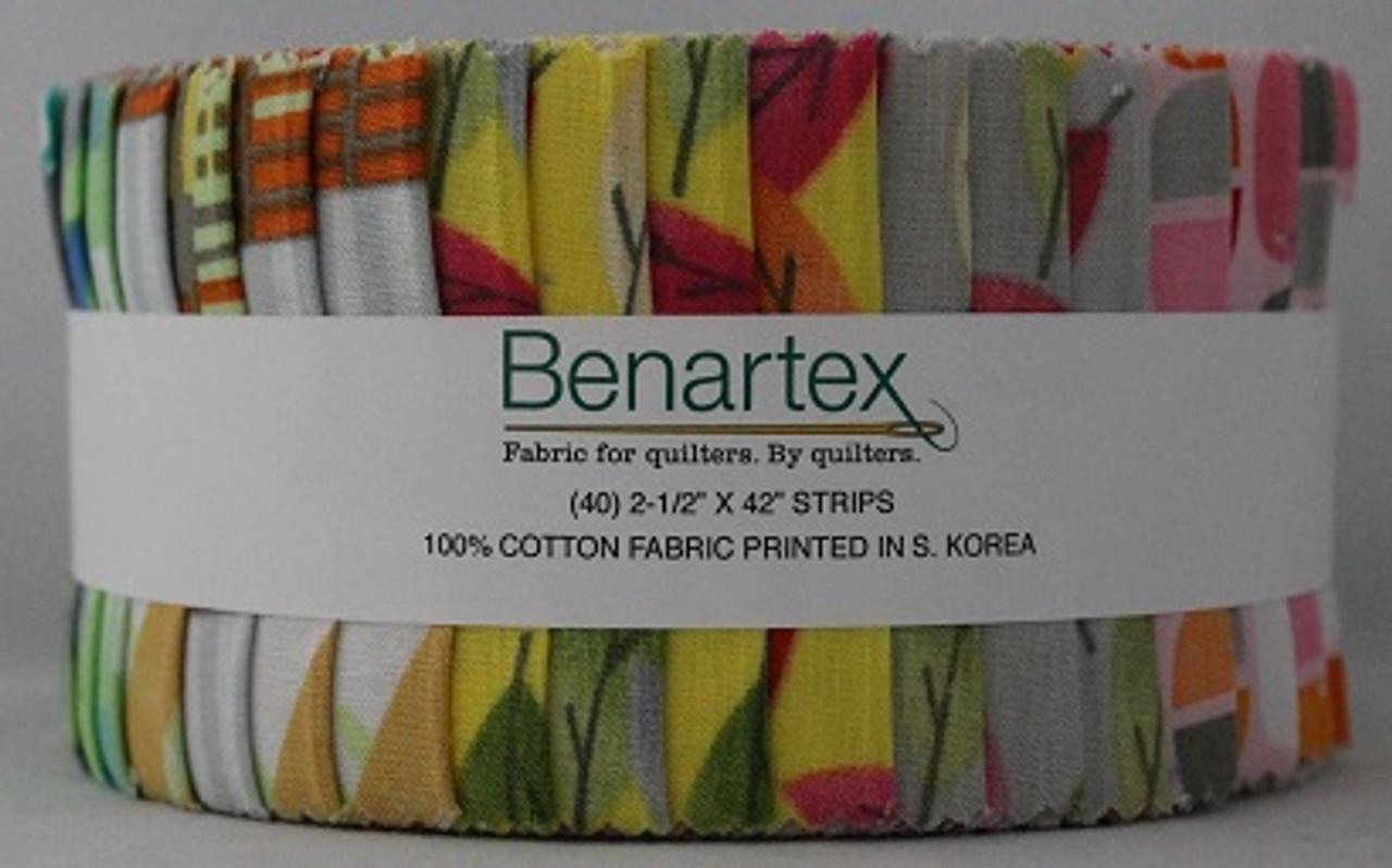 "Modern Prints - Benartex - Pinwheel - 2.5"" Strips - 40 Pieces - Cotton"
