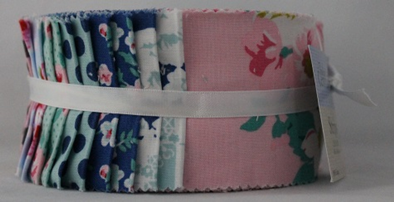 """Dots and Florals - Fabric Central - Pinwheel - 2.5"""" Strips - 40 Pieces - Cotton"""