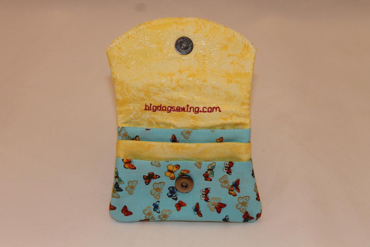 Credit Card / ID Wallet - Yellow & Butterflies 9