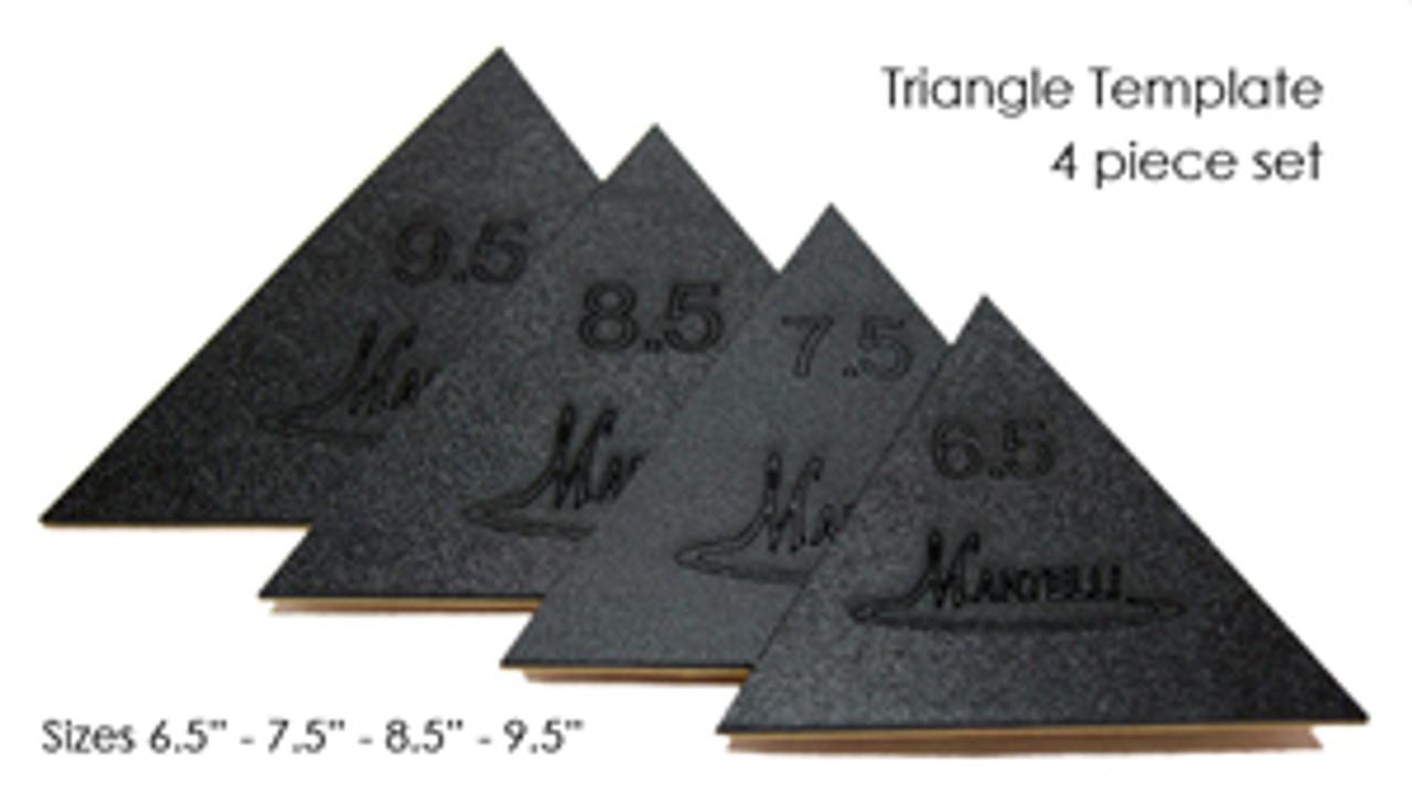 "Martelli No Slip Triangle Template Set Large 4 pc 6.5"" - 9.5"""