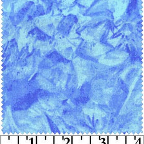Sky Blue - Fabric - Crushed - Blank Quilting - Cotton