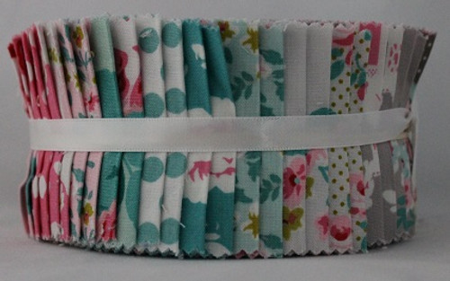 "Dots and Florals - Fabric Central - Pinwheel - 2.5"" Strips - 40 Pieces - Cotton"