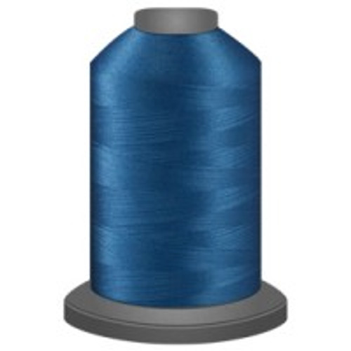Cerulean - Polyester - Thread - Trilobal - Glide - 40 wt This thread is strong and maintains consistent tension.  This results in less thread breakage, consistent stitch formation, resulting in fewer machine stops.  Made from colorfast polyester. Complete and uniform fill, provides a beautiful look, as if the thread melts into the fabric. Glide runs virtually lint free through your machine's tensioners and needle. Mini Spool - 40 wt - 1100 yds King Spool - 40 wt - 5500 yds Available in 269 colors.