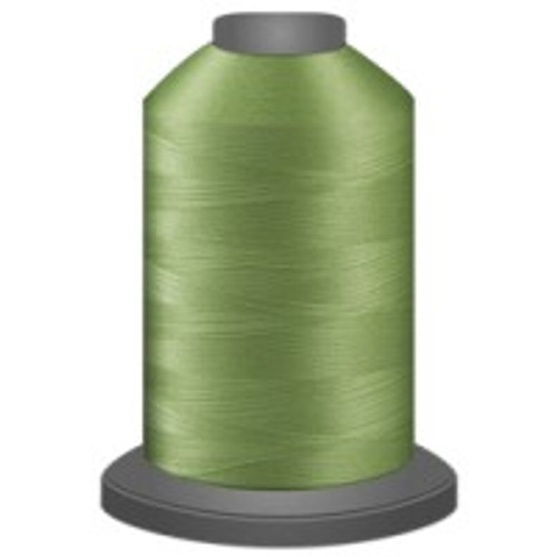 Celery - Polyester - Thread - Trilobal - Glide - 40 wt This thread is strong and maintains consistent tension.  This results in less thread breakage, consistent stitch formation, resulting in fewer machine stops.  Made from colorfast polyester. Complete and uniform fill, provides a beautiful look, as if the thread melts into the fabric. Glide runs virtually lint free through your machine's tensioners and needle. Mini Spool - 40 wt - 1100 yds King Spool - 40 wt - 5500 yds Available in 269 colors.