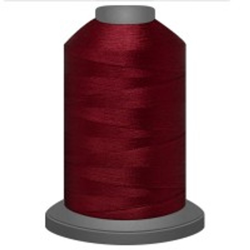 Carmine - Polyester - Thread - Trilobal - Glide - 40 wt This thread is strong and maintains consistent tension.  This results in less thread breakage, consistent stitch formation, resulting in fewer machine stops.  Made from colorfast polyester. Complete and uniform fill, provides a beautiful look, as if the thread melts into the fabric. Glide runs virtually lint free through your machine's tensioners and needle. Mini Spool - 40 wt - 1100 yds King Spool - 40 wt - 5500 yds Available in 269 colors.