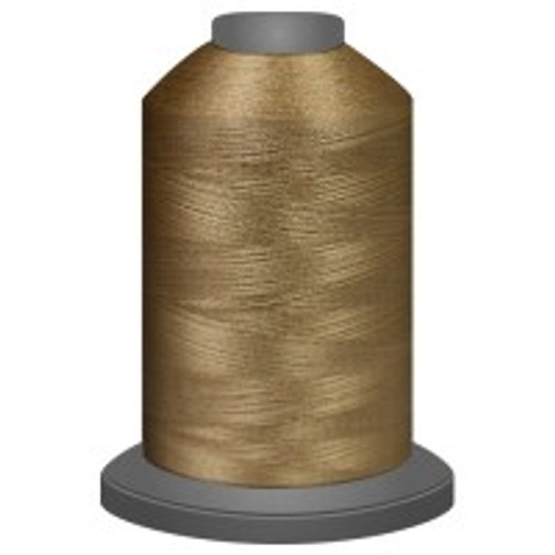 Caramel - Polyester - Thread - Trilobal - Glide - 40 wt This thread is strong and maintains consistent tension.  This results in less thread breakage, consistent stitch formation, resulting in fewer machine stops.  Made from colorfast polyester. Complete and uniform fill, provides a beautiful look, as if the thread melts into the fabric. Glide runs virtually lint free through your machine's tensioners and needle. Mini Spool - 40 wt - 1100 yds King Spool - 40 wt - 5500 yds Available in 269 colors.