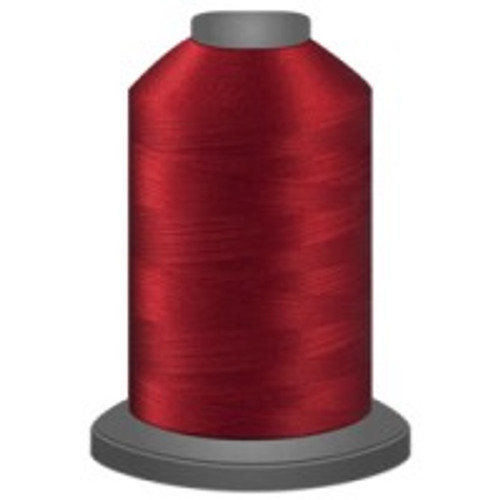 Candy Apple Red - Polyester - Thread - Trilobal - Glide - 40 wt This thread is strong and maintains consistent tension.  This results in less thread breakage, consistent stitch formation, resulting in fewer machine stops.  Made from colorfast polyester. Complete and uniform fill, provides a beautiful look, as if the thread melts into the fabric. Glide runs virtually lint free through your machine's tensioners and needle. Mini Spool - 40 wt - 1100 yds King Spool - 40 wt - 5500 yds Available in 269 colors.